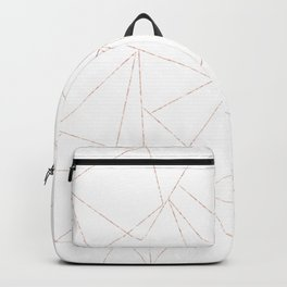 rose gold triangle pattern Backpack