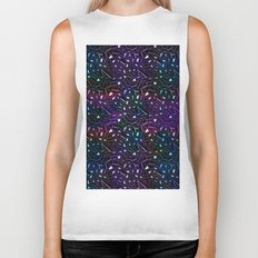 Midnight Rainbow Glitter Biker Tank