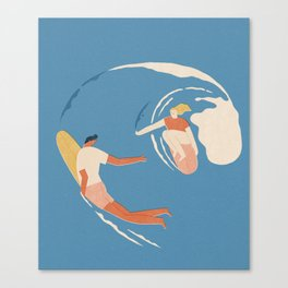 Wave lovers Canvas Print