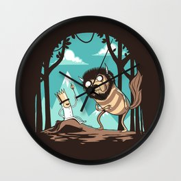 Where the Wild Adventures Are Wall Clock