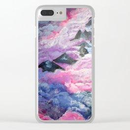 """In the clouds"" Clear iPhone Case"