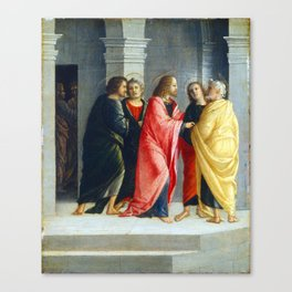 Vincenzo Civerchio Christ Instructing Peter and John to Prepare for the Passover Canvas Print