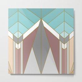 ART DECO G2 (abstract geometric) Metal Print