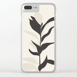 Abstract Minimal Plant Clear iPhone Case