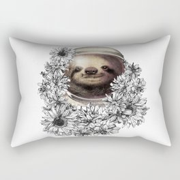 unique and exclusive sloth bear astronaut Rectangular Pillow