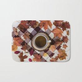 Autumn Tea Time Bath Mat