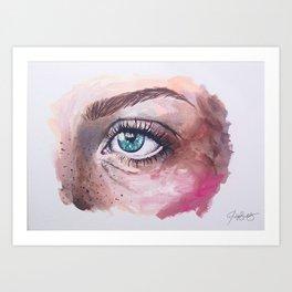 Eye oil painting Art Print