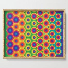 Rainbow Hexagon Serving Tray