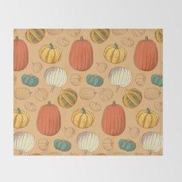 Fall Pumpkins Throw Blanket
