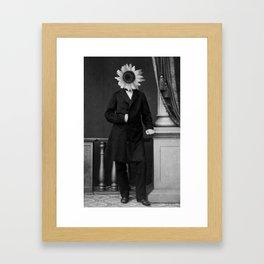 Smart Sunflower.1885. Framed Art Print