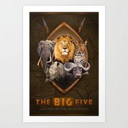 The Big Five Art Print