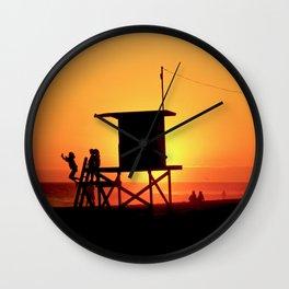 Modern End of Summer Fun In Newport Beach CA Wall Clock