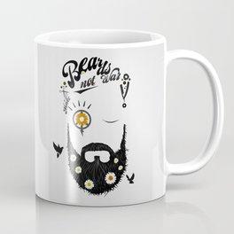 Make Beards not War (typo edition) Coffee Mug