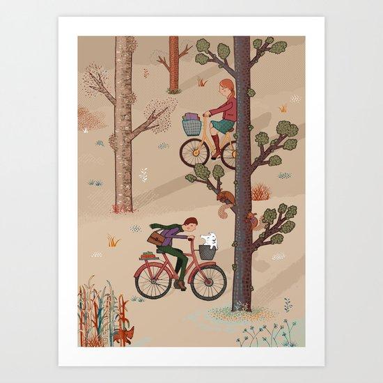 Cross Paths Art Print