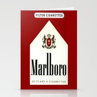 cigarettes Stationery Cards featuring cigarettes by Azrai Danial