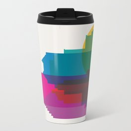 Shapes of Montreal. Accurate to scale. Travel Mug