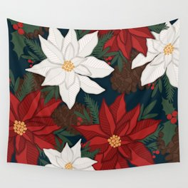 Taro Patch Design Poinsettia Wall Tapestry