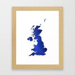 United Kingdom Map silhouette Framed Art Print
