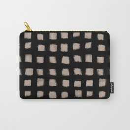 Form Square Polka Dot Tight Nude On Black Carry-All Pouch