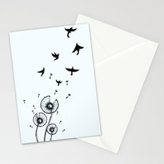 Birds In The Wind Stationery Cards