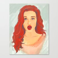 lydia martin Canvas Prints featuring Holland Roden (Lydia Martin) by maichan