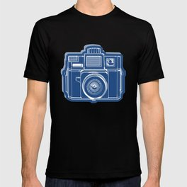 I Still Shoot Film Holga Logo - Blue T-shirt
