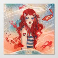 pirate Canvas Prints featuring Pirate by Minasmoke