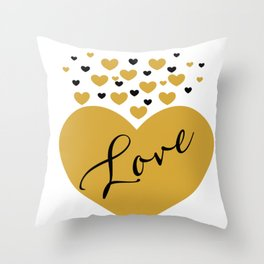 Love is Gold Throw Pillow