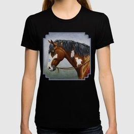 Bay Pinto Native American War Horse T-shirt
