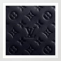 lv Art Prints featuring Black LV by I Love Decor