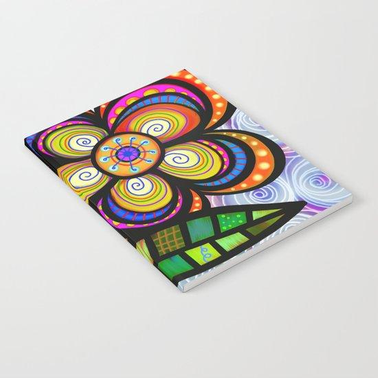 feuilles et fleurs motif 5 Notebook