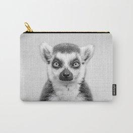 Lemur 2 - Black & White Carry-All Pouch