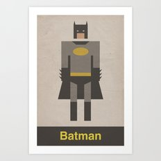 The Dark Night Retro Art Print