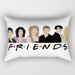 FRIENDS (Minimalist Print with Text) Rectangular Pillow