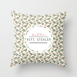 wifi stealer Throw Pillow