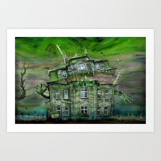The Ghosthouse Art Print