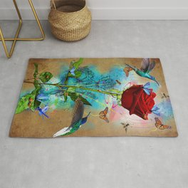 A Rose in Time Rug