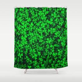 Clover Shamrock Field Garden Shower Curtain