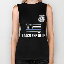 South Dakota Police Appreciation Thin Blue Line I Back The Blue Biker Tank