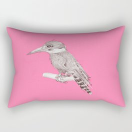 pink kingfisher bird Rectangular Pillow