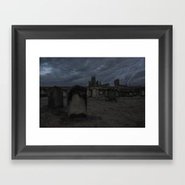 Whitby Abbey darkness Framed Art Print