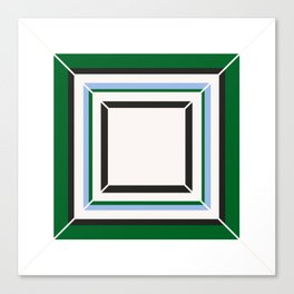 Green Blue And White Tile Canvas Print