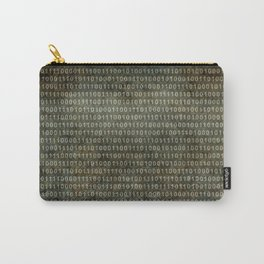 Binary Code with grungy textures Carry-All Pouch