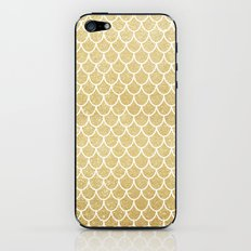 Mermaid Tail Pattern  |  Gold Glitter iPhone & iPod Skin