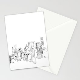 cubes and balls in the city . Art Stationery Cards