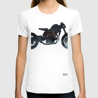cafe racer T-shirts featuring cafe racer fighter bike by Daniele Faro