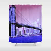 brooklyn bridge Shower Curtains featuring  Brooklyn Bridge by Dr.RPF