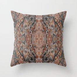 Wood Texture Kaleidoscope Throw Pillow