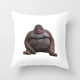 Uh Oh Stinky/Le Monke Throw Pillow
