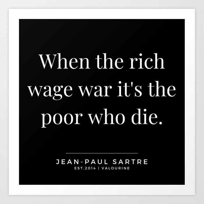 9 | Jean-Paul Sartre Quotes | 190810 Art Print by quotesandsayings